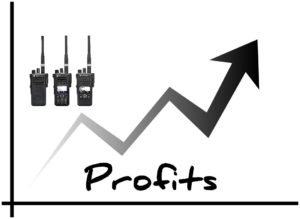 Two way radio improves profits.