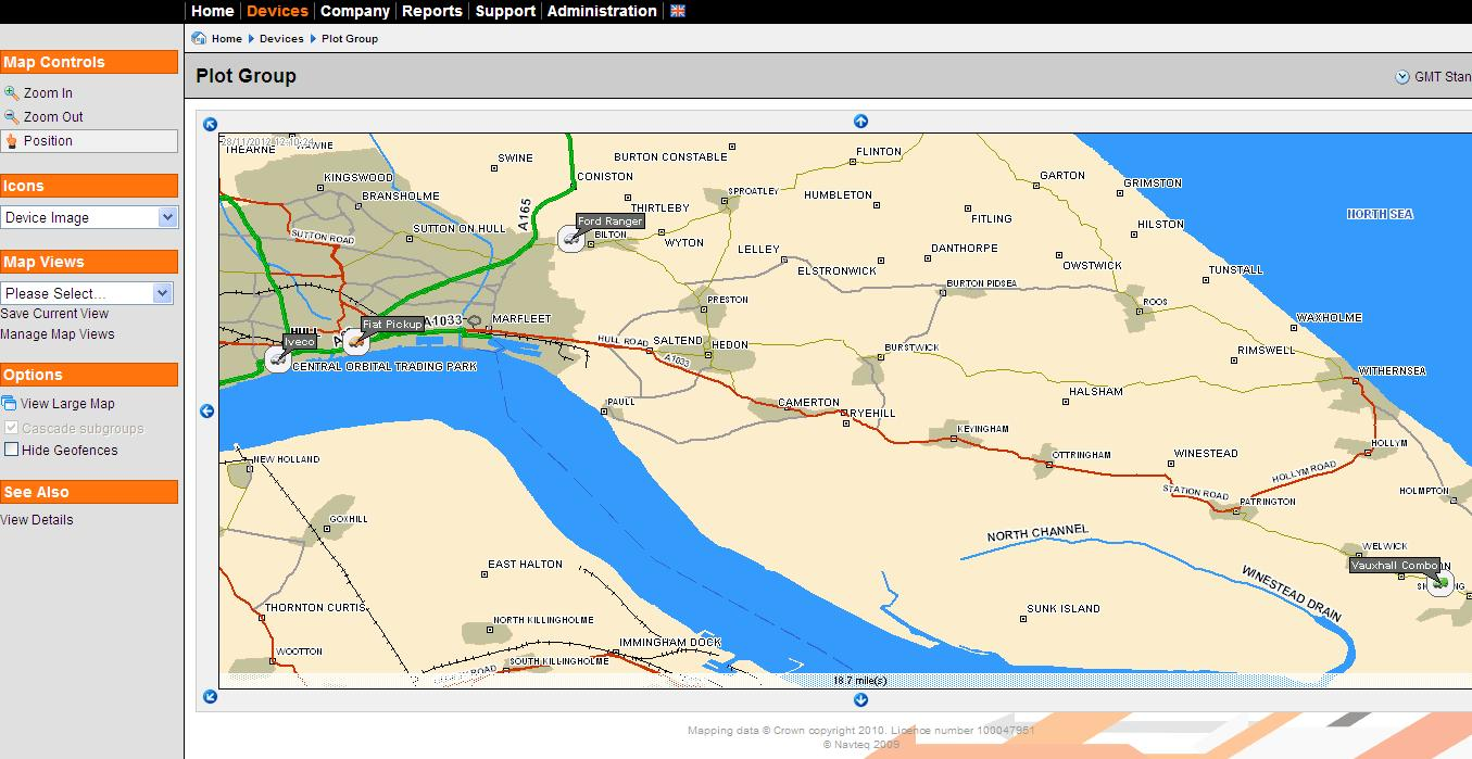 Tracker mapping