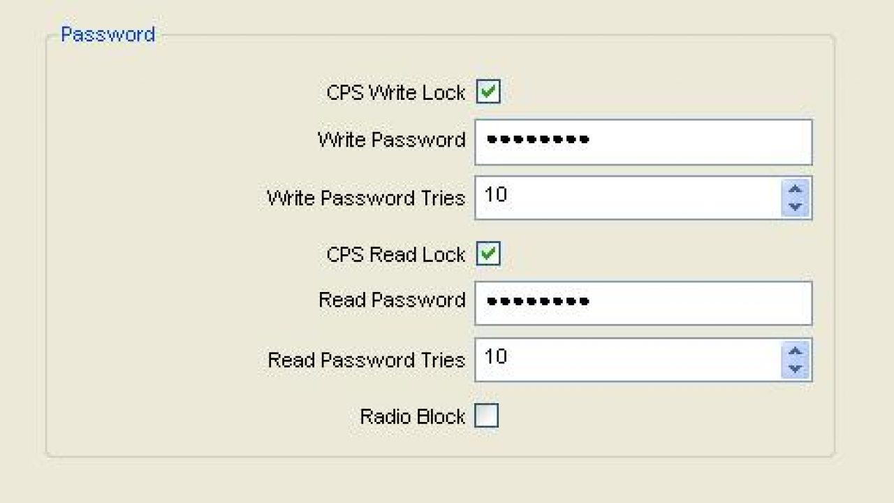 Password Protection on Two Way Radios  - Radphone