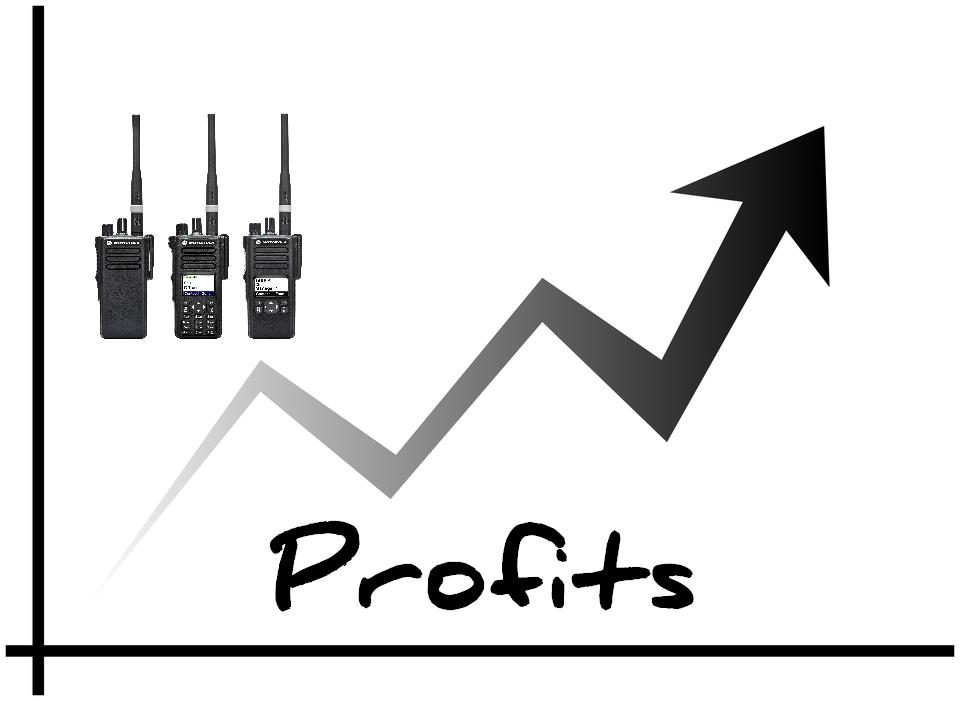 Two way radio improves profits.